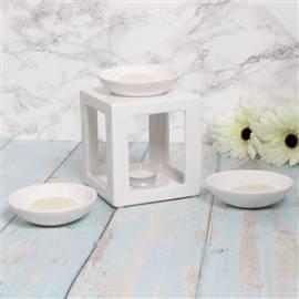 Duftlampe Aromalampe -Cube Set white- - Bild vergrößern