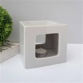 Duftlampe Aromalampe -Cube Grey- - Bild vergrößern
