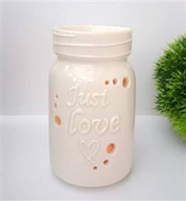 Duftlampe Aromalampe -Love Jar White- - Bild vergrößern