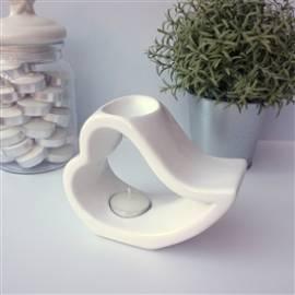 Duftlampe Aromalampe -Romeo white- - Bild vergrößern